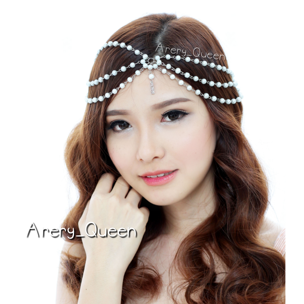 Headpiece Hairpiece Crown Mahkota Wedding Aksesoris Jual